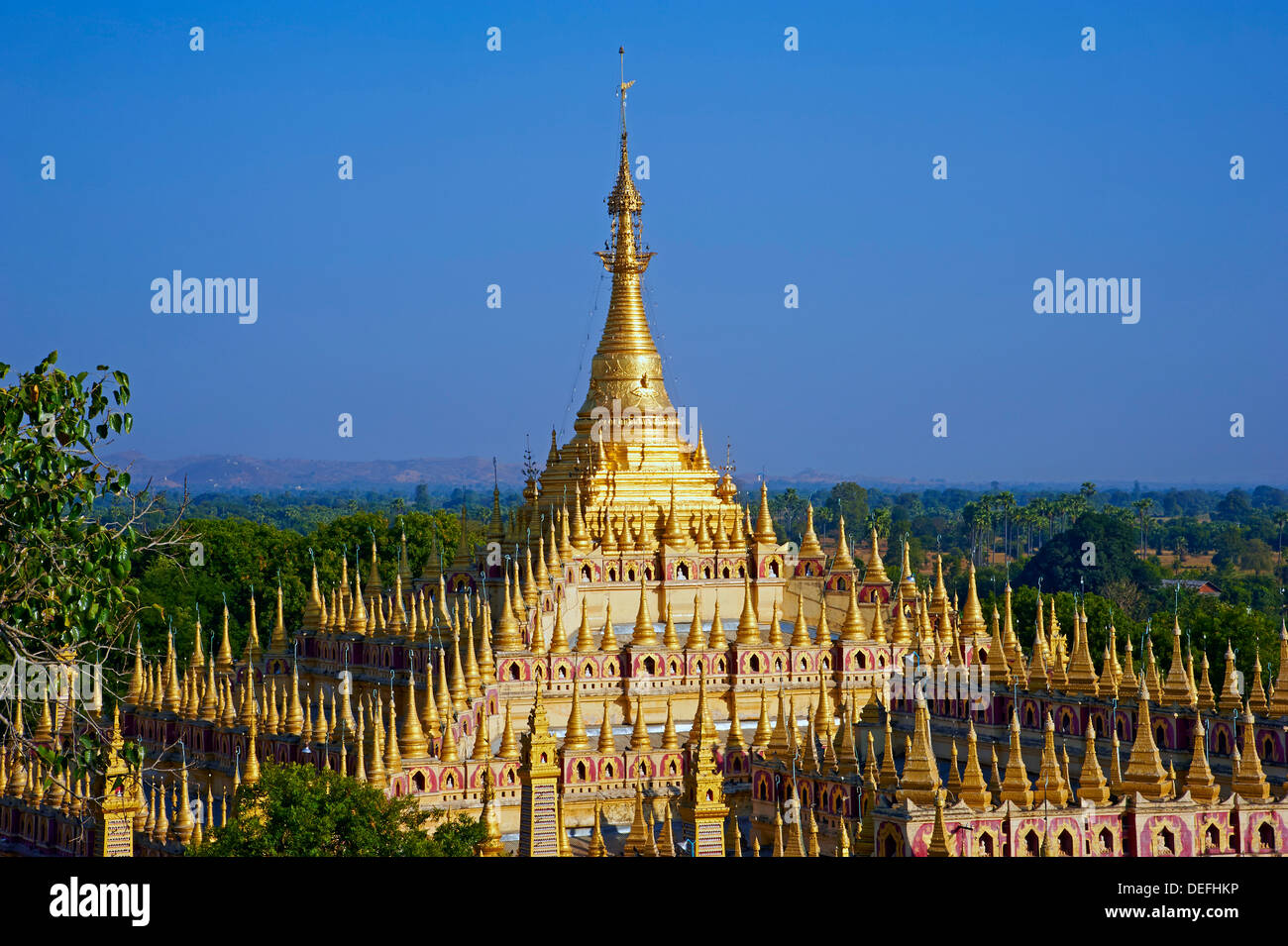 Thanbodhay Pagoda, Monywa, Sagaing Division, Myanmar (Burma), Asia - Stock Image