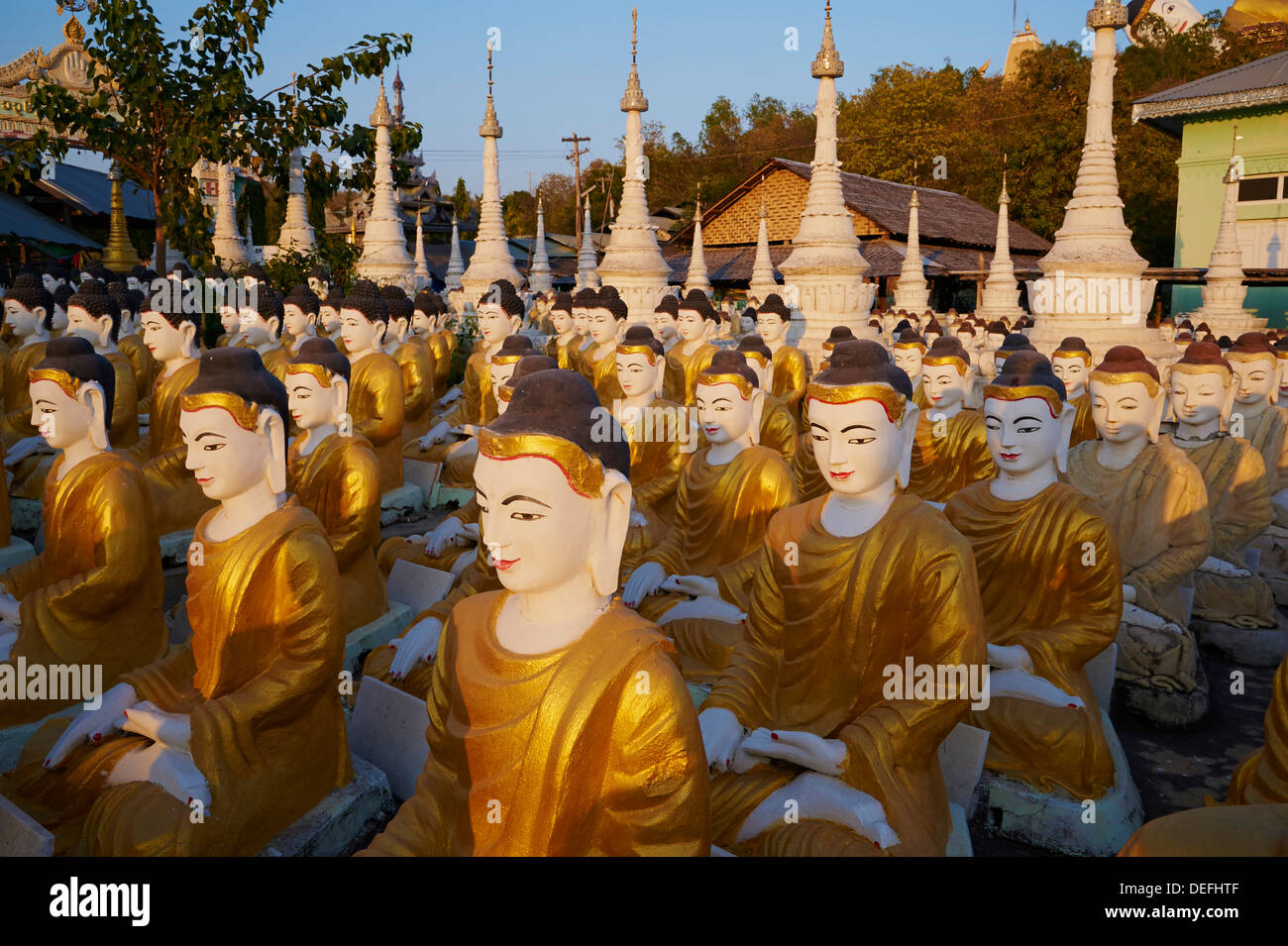 Bodhi Tataung, Monywa, Sagaing Division, Myanmar (Burma), Asia - Stock Image