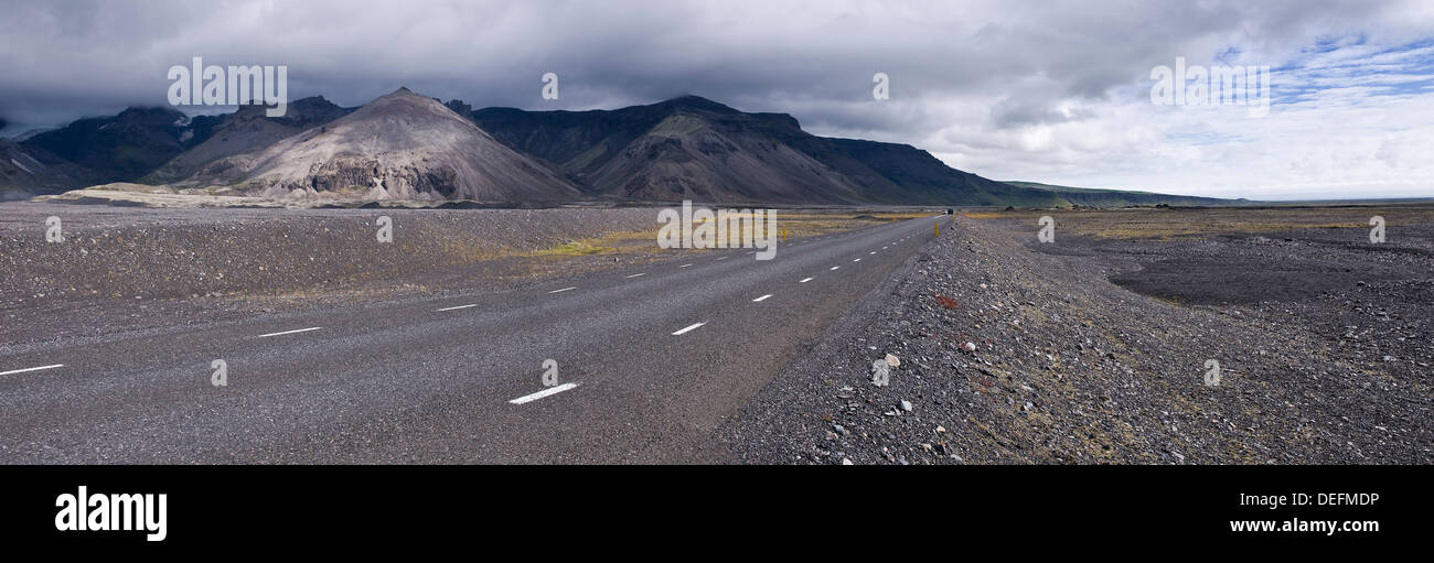 Highway 1, South Iceland, Polar Regions - Stock Image