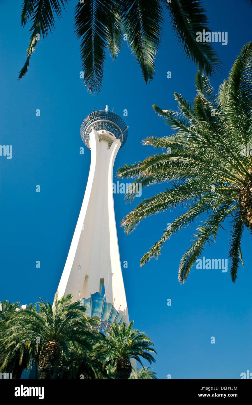Stratosphere Tower, Las Vegas, Nevada, United States of America, North America - Stock Image