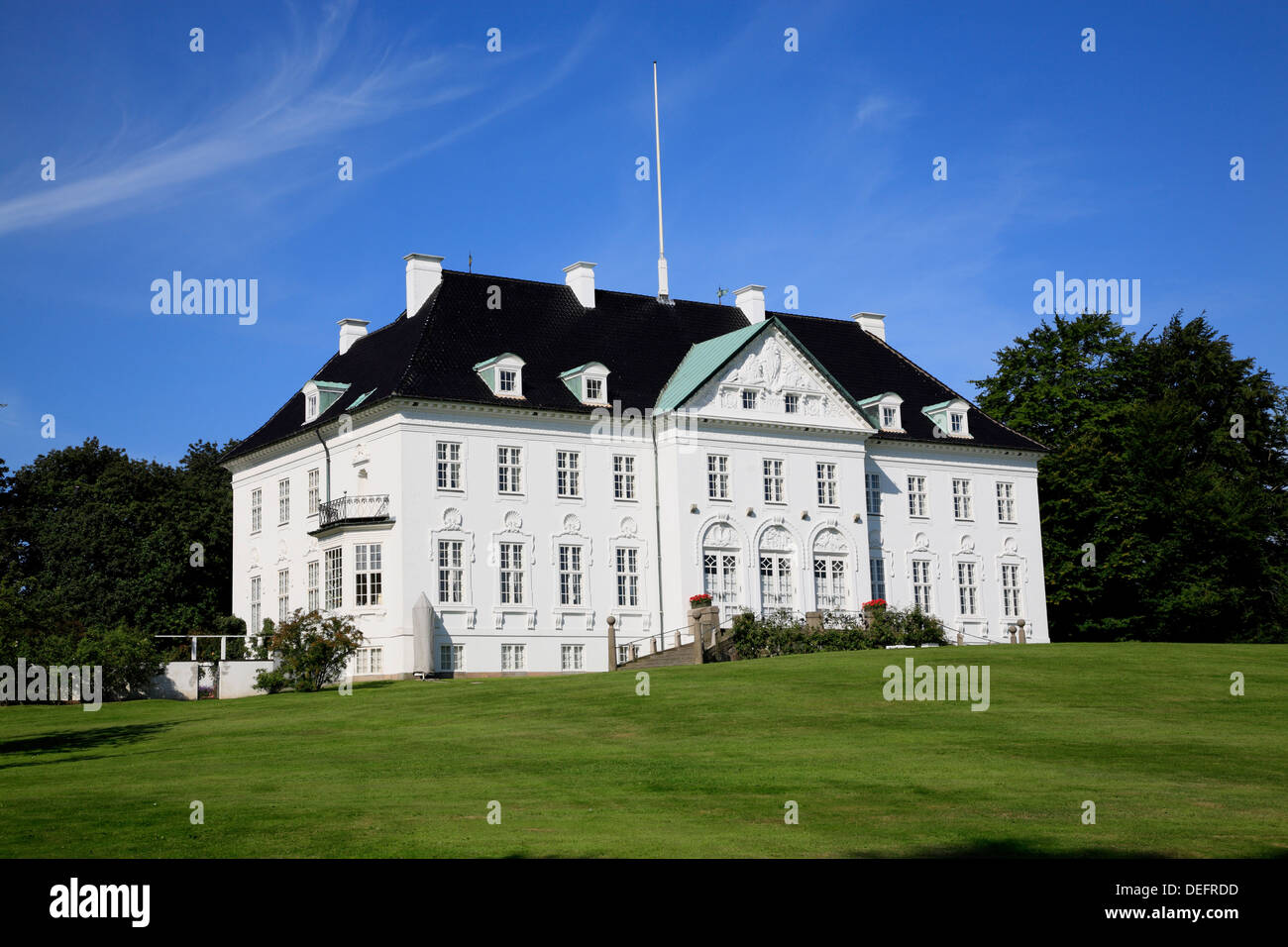 Royal palace Marselisborg, Arhus, Jutland, Denmark, Scandinavia, Europe Stock Photo