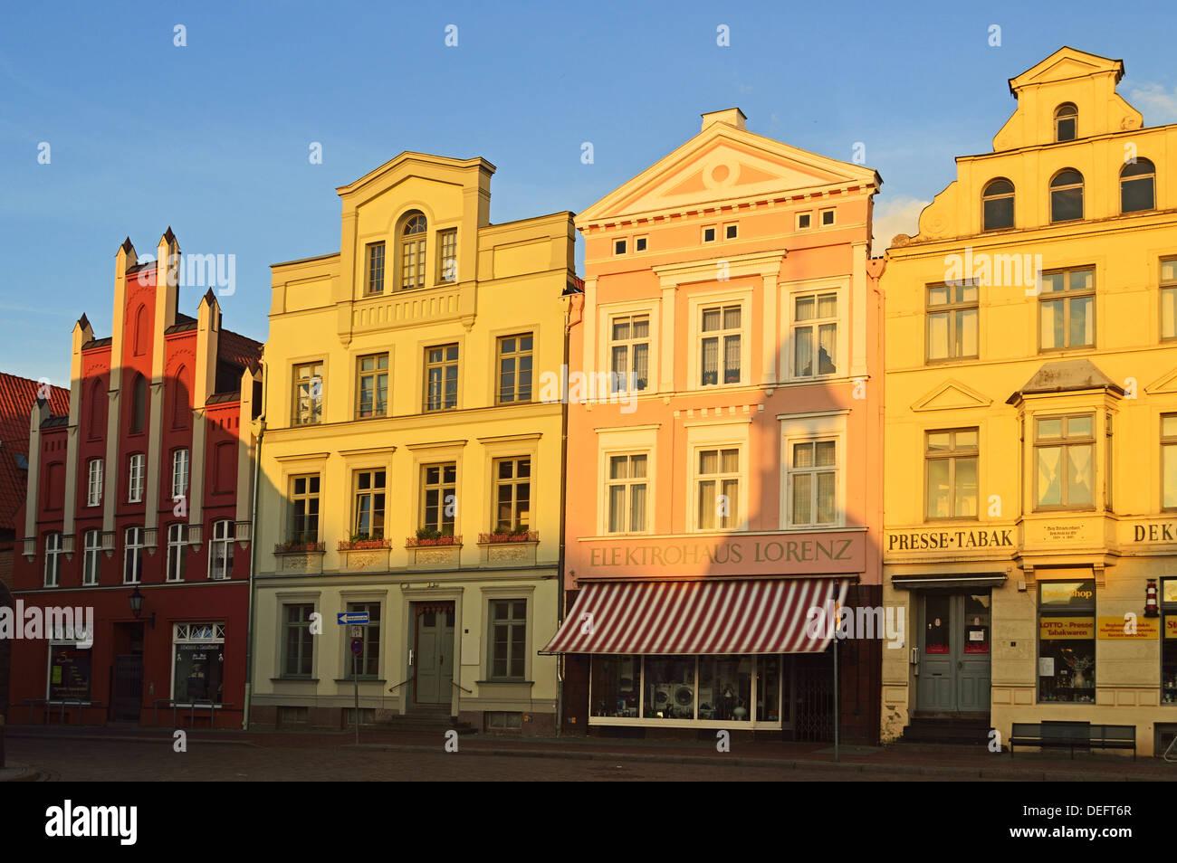 Marktplatz (market place), Wismar, UNESCO World Heritage Site, Mecklenburg-Vorpommern, Germany, Baltic Sea, Europe - Stock Image