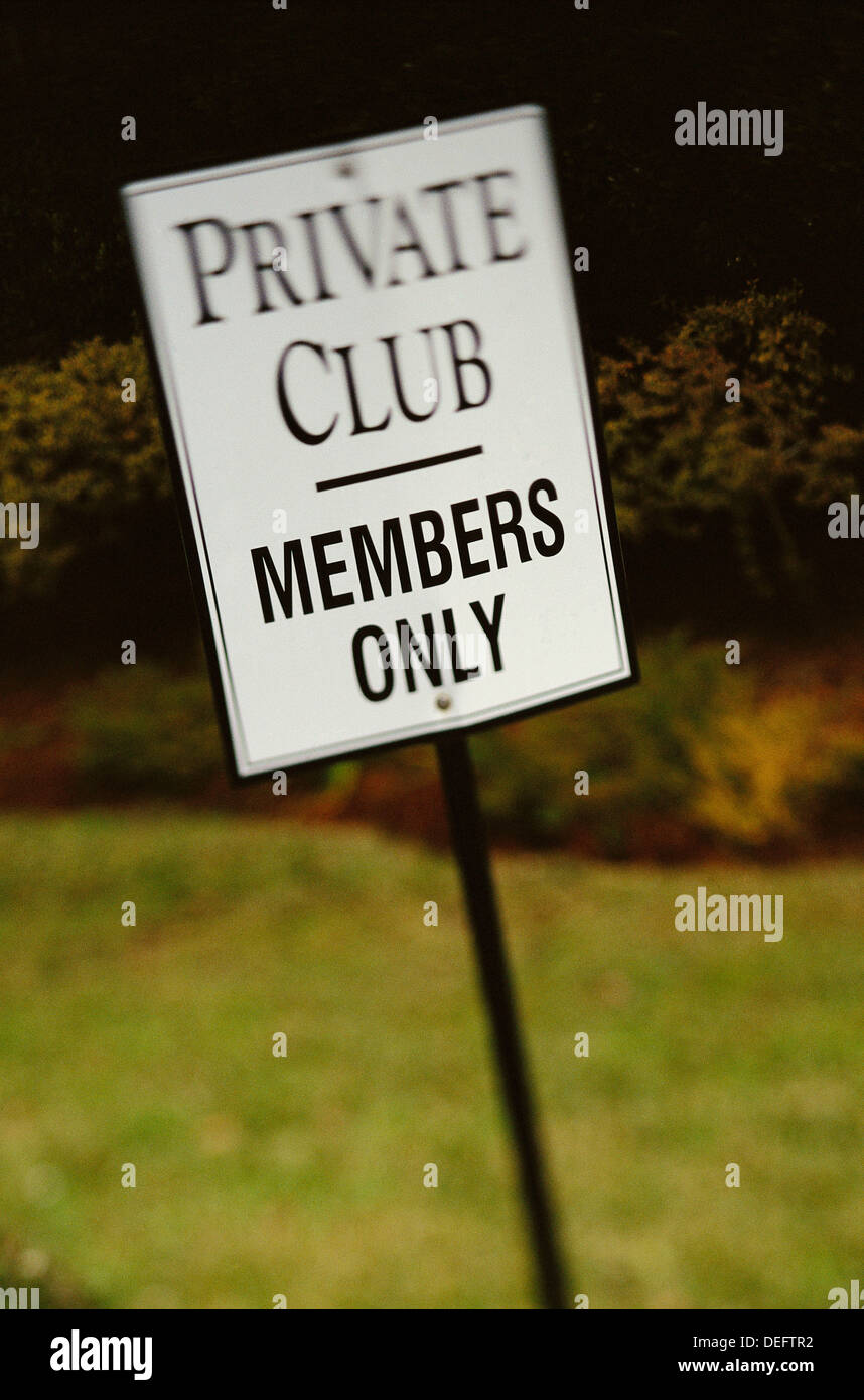 Private Club, Members Only - Stock Image