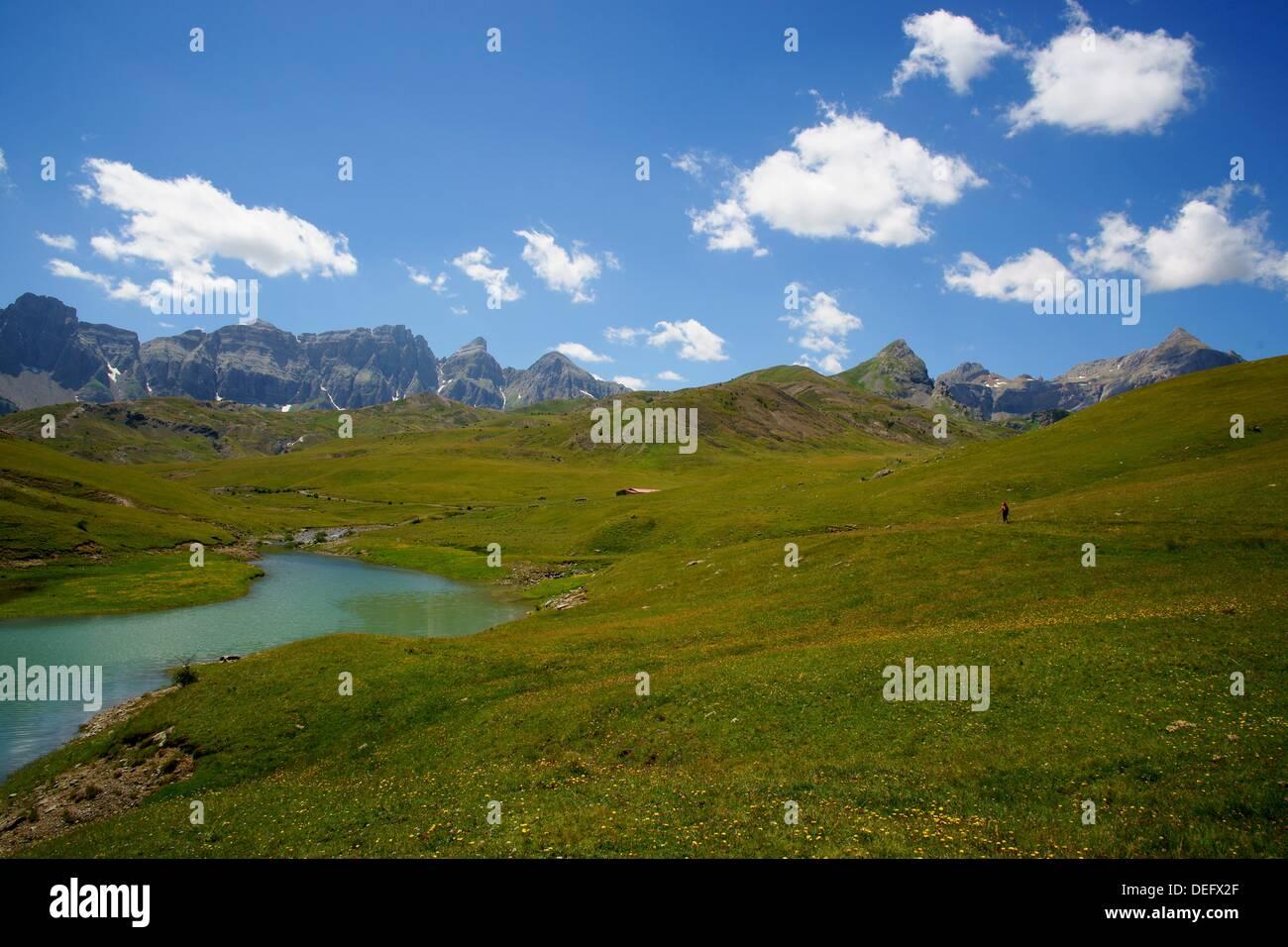Ezcarra Enbalse of Valle de Tena Pyrenees Huesca Pyrenees Spain Stock Photo
