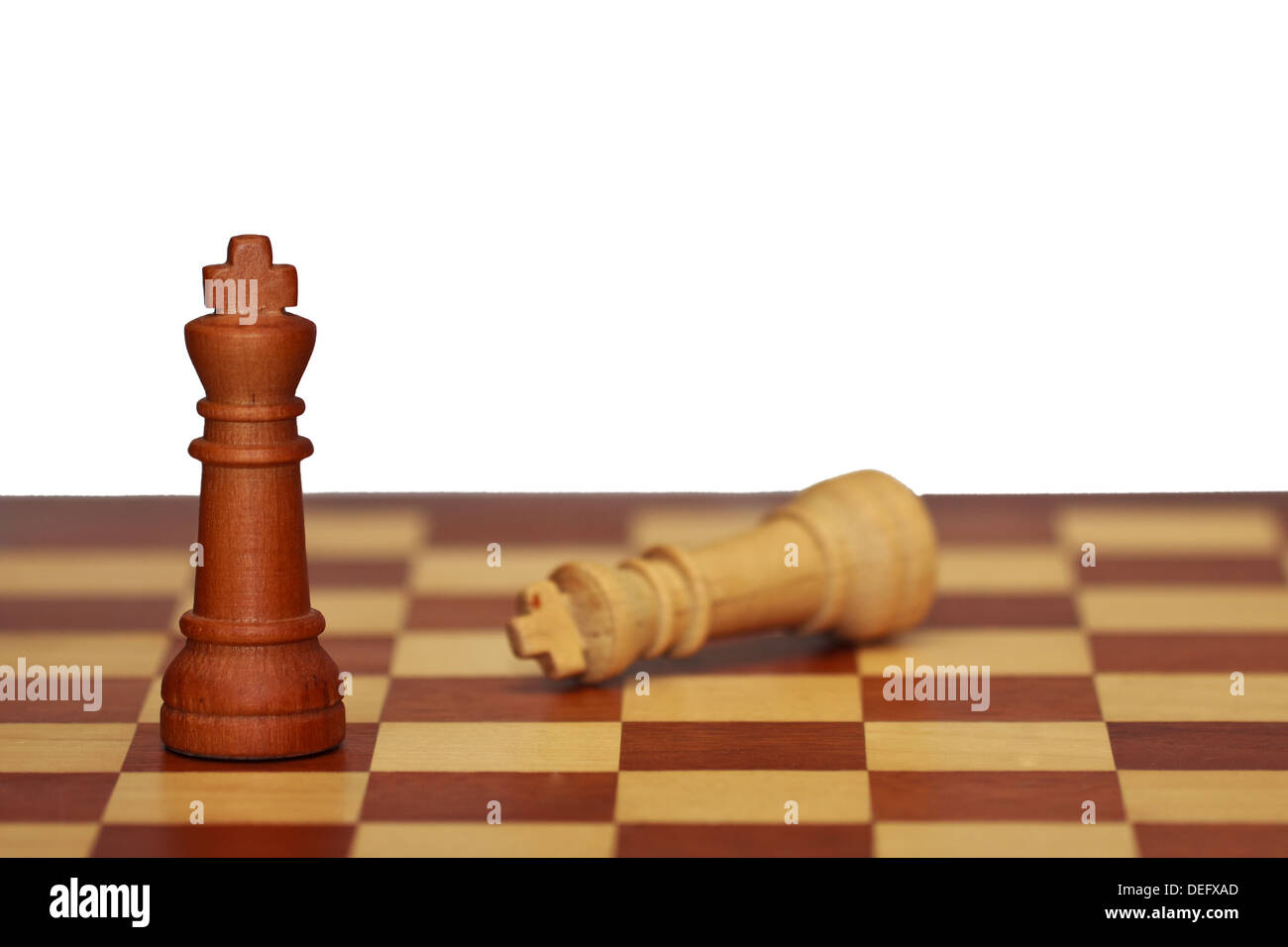 The final scene in a game of chess - Stock Image
