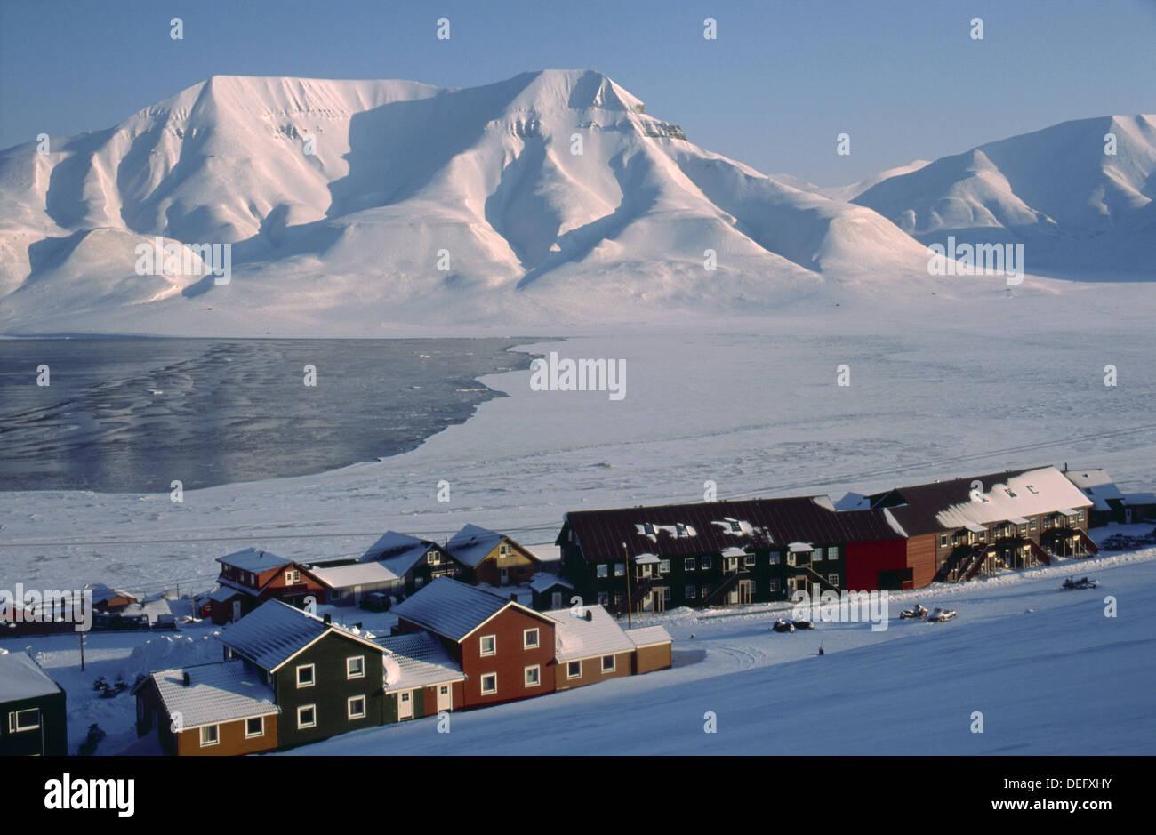 Longyearbyen Early March Spring Spitsbergen Island Svalbard
