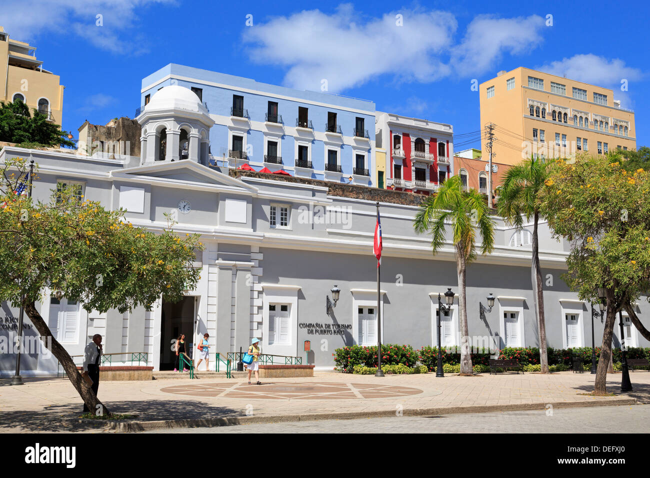 Old Penitentiary in Old San Juan, Puerto Rico, West Indies, Caribbean, Central America - Stock Image