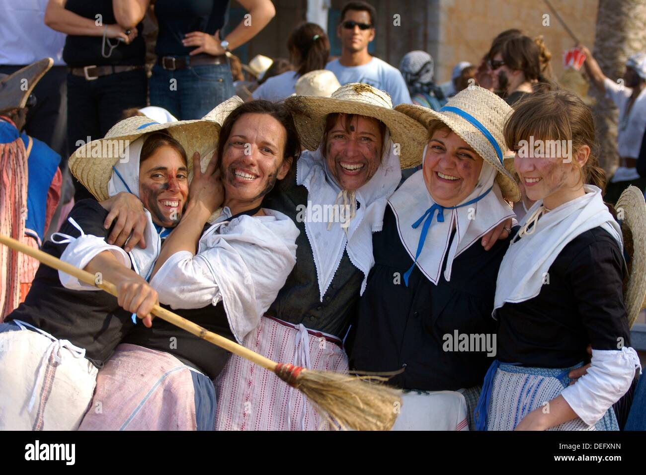 Peasant, Moors and Christians, Christian commemoration of the victory over the Turks in 1561. It Firó, Soller, Majorca, - Stock Image