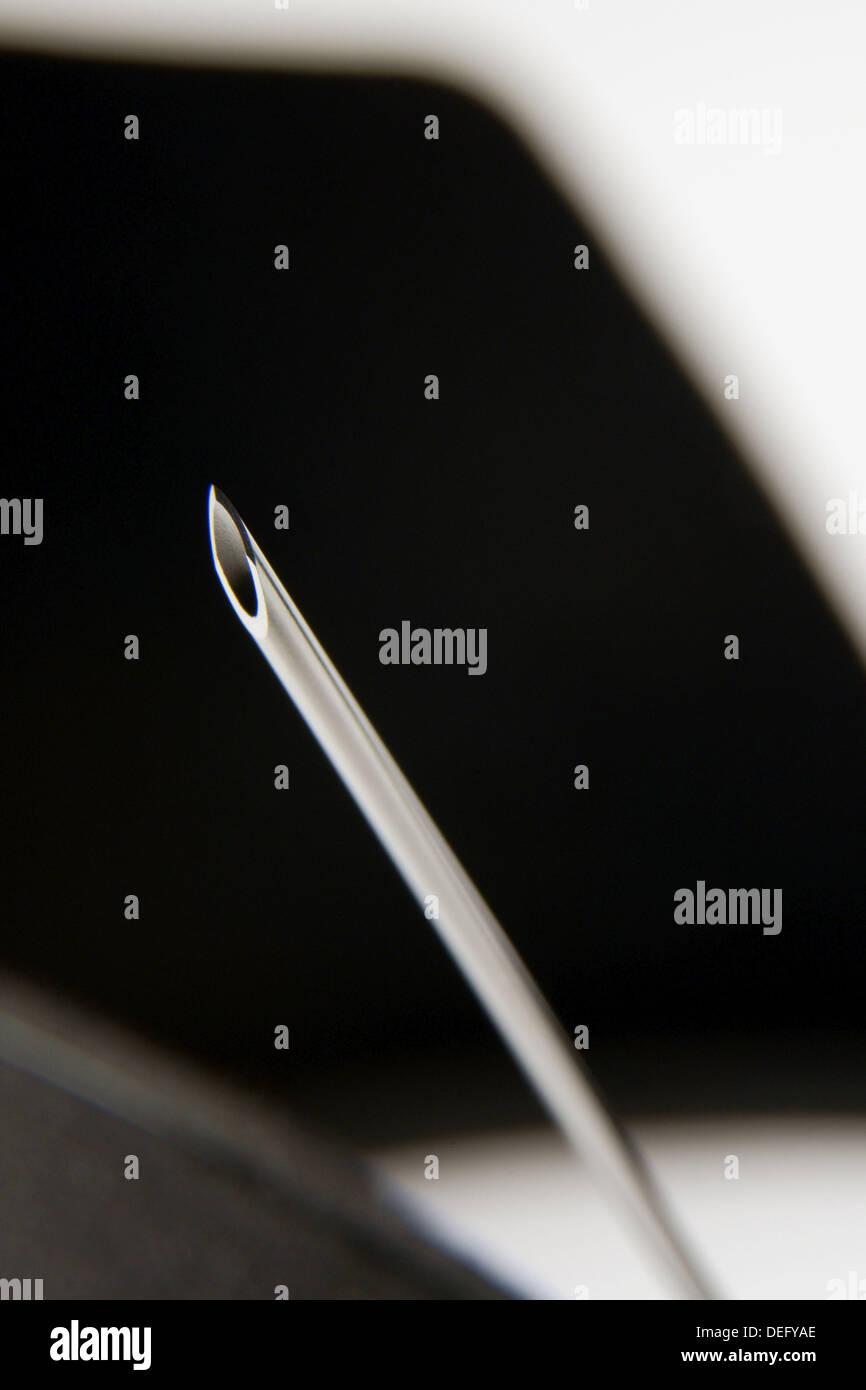 Hypodermic needle - Stock Image