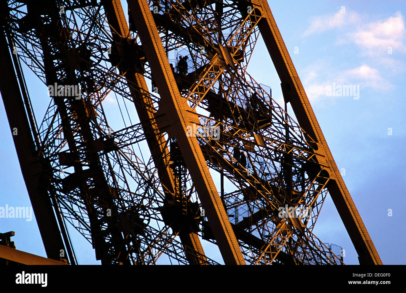 Close-up of metal frame of the Eiffel Tower. Paris. France Stock ...
