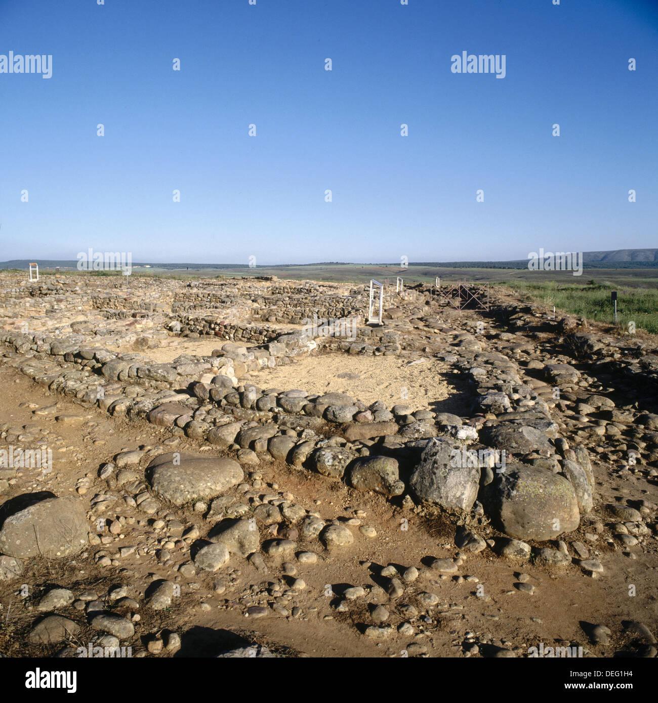 Ruins of of the town of Numancia (Numantia) near Garray. Soria province, Castilla-León, Spain - Stock Image