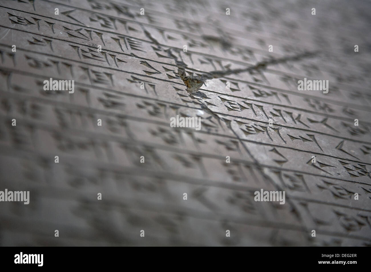Ancient Persia Writing on Stone - Stock Image