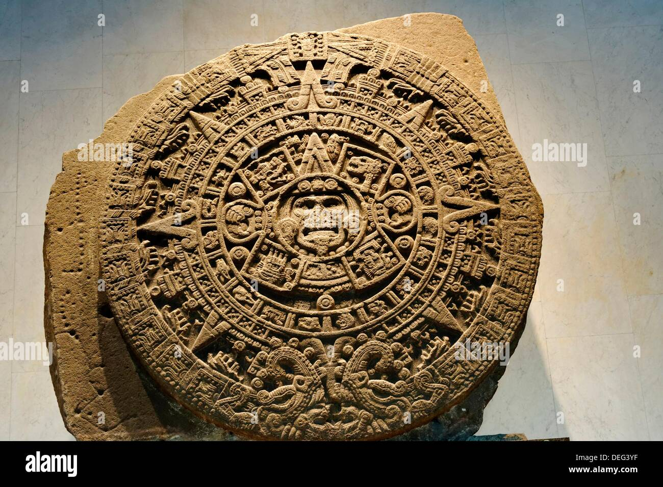 Aztec Calendar Stone.The Aztec Calendar Stone Mexica Sun Stone Or Stone Of The Sun Is A
