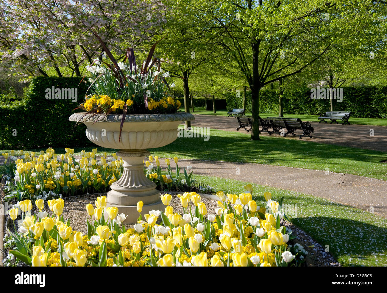 Planted Urn Stock Photos Planted Urn Stock Images Alamy