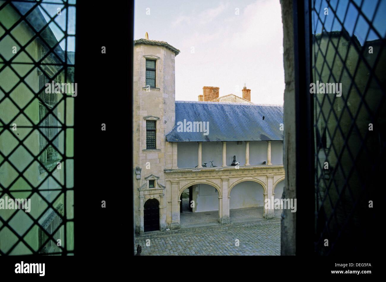 Old Clerjotte townhouse (late XVth century). Ernest Cognacq Museum. Saint Martin town. Island of Ré. Charente - Stock Image