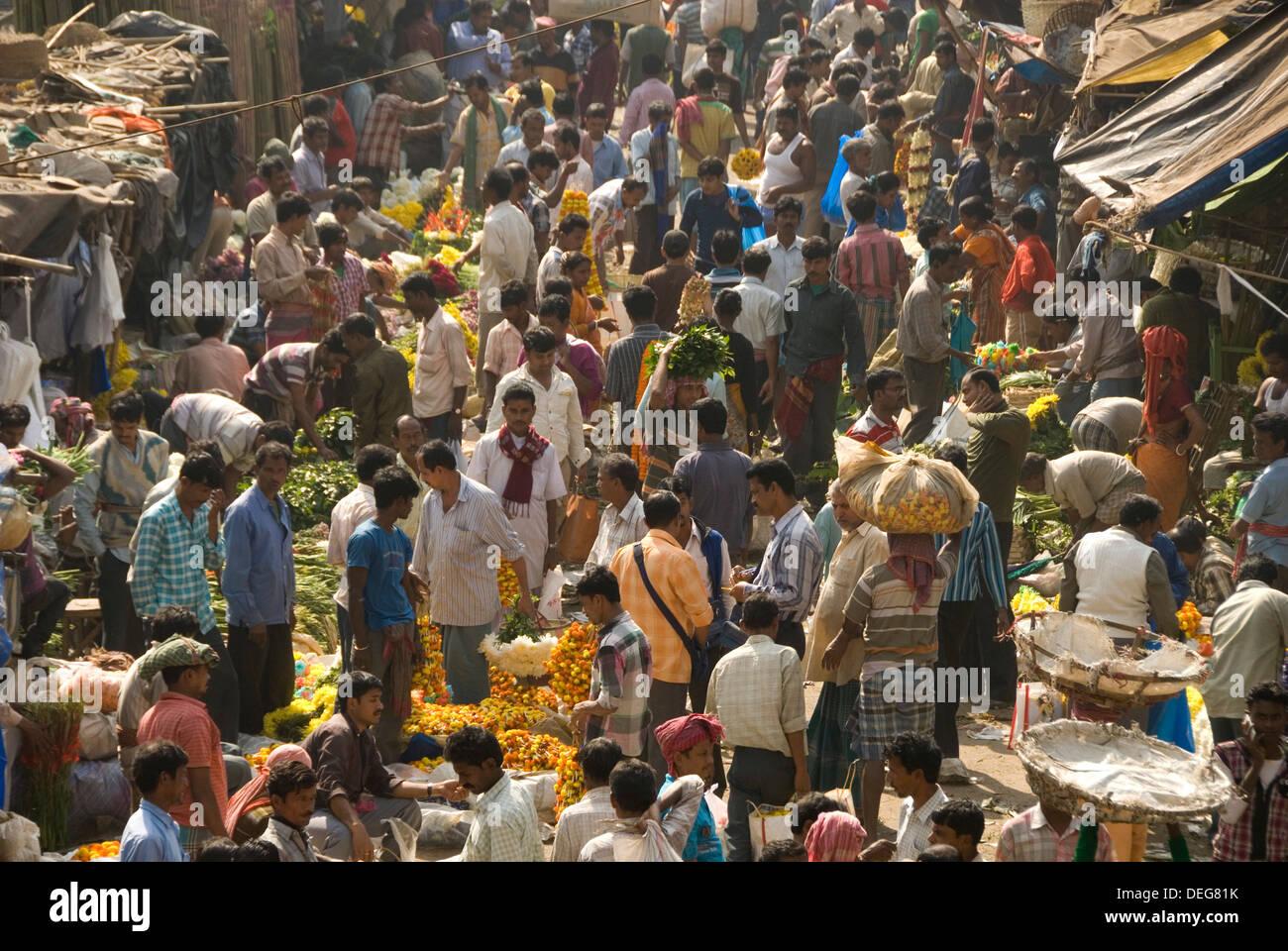 Armenia Ghat market, Kolkata (Calcutta), West Bengal, India, Asia - Stock Image