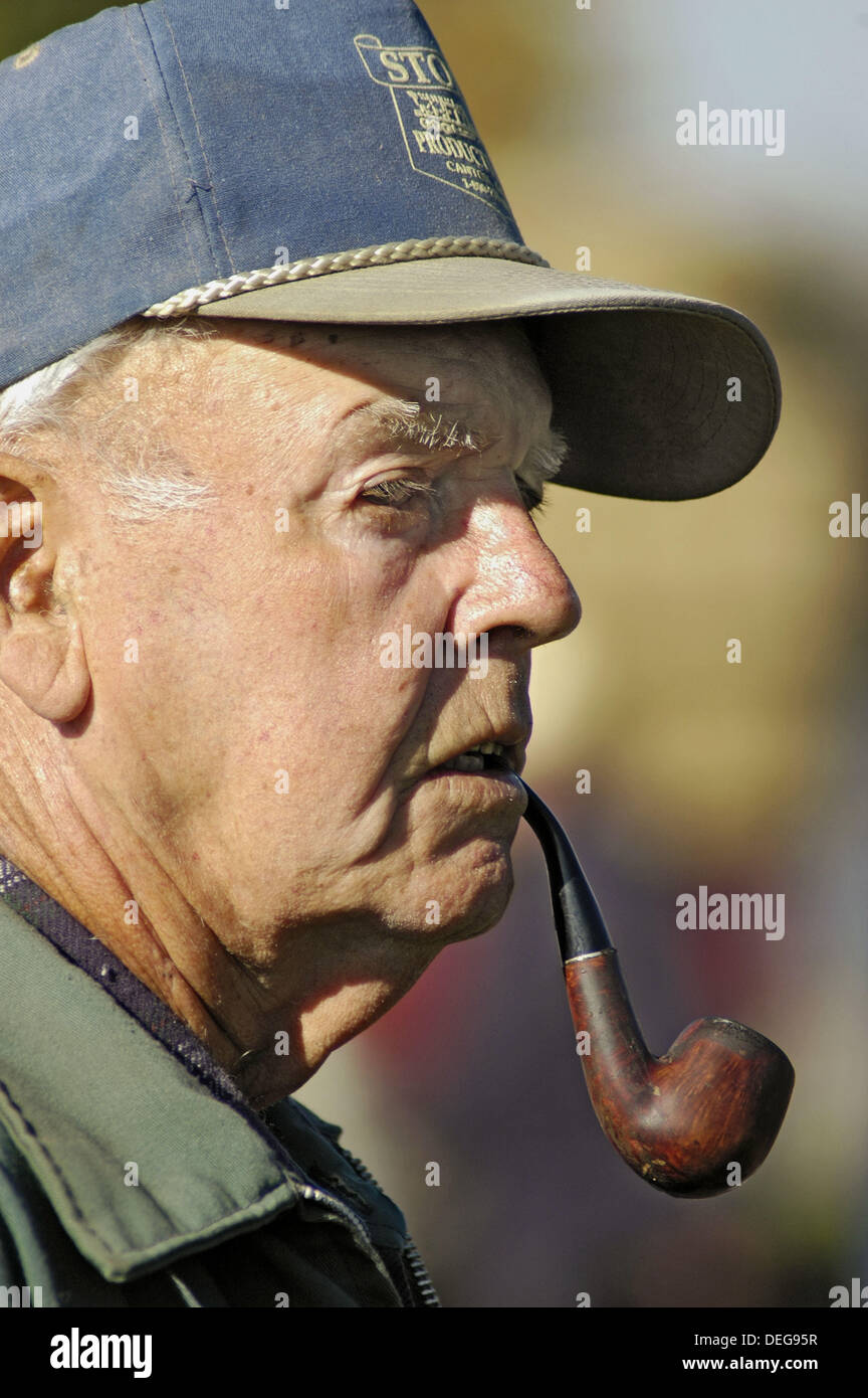 Pipe Smoker Middle Aged Stock Photos   Pipe Smoker Middle Aged Stock ... 76dcd4576d32