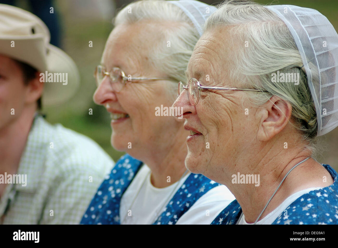 Twin Sisters who look alike and act alike as twins at the Twins gathering in Ohio. USA. - Stock Image