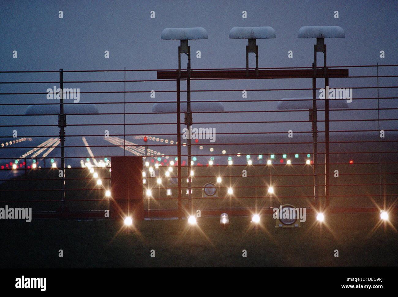 ILS flashing transmitter. Hannover. Germany. - Stock Image