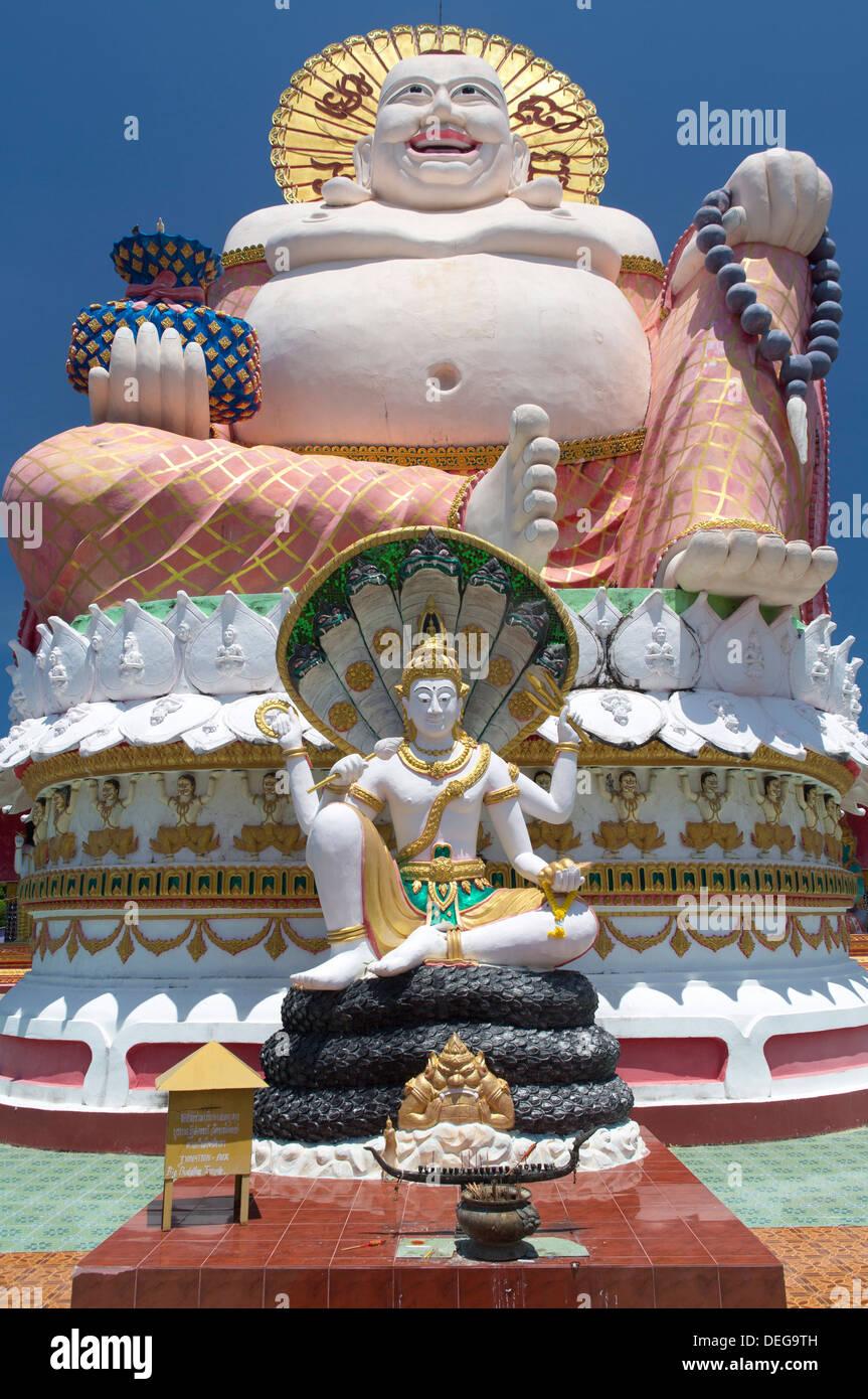 Giant Buddha image at Wat Plai Laem on the North East coast of Koh Samui, Thailand, Southeast Asia, Asia Stock Photo