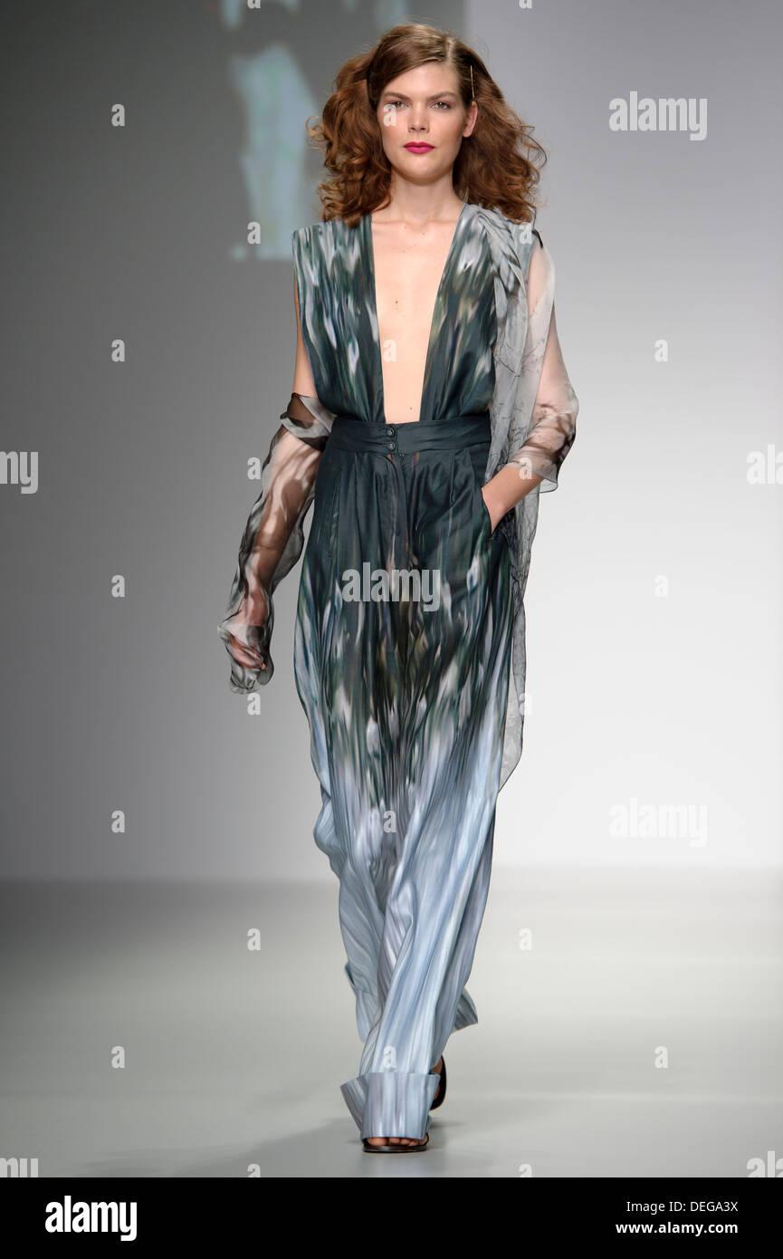 3e0229f892 A model wears a design created by Maria Grachvogel during London Fashion  Week Spring Summer 2014.