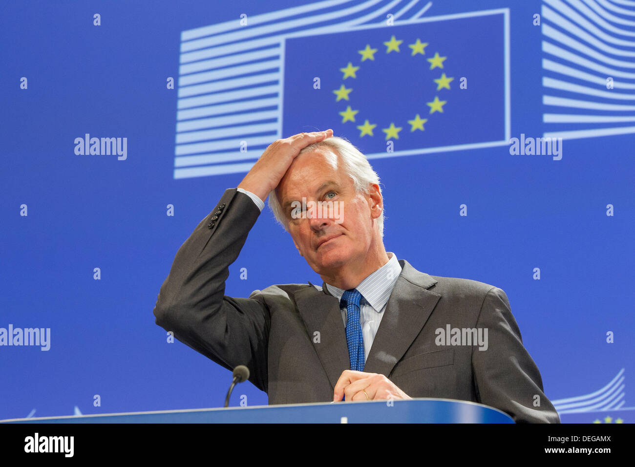 Michel Barnier, Brexit negotiator, EU Commissioner for Internal Market and Services - Stock Image
