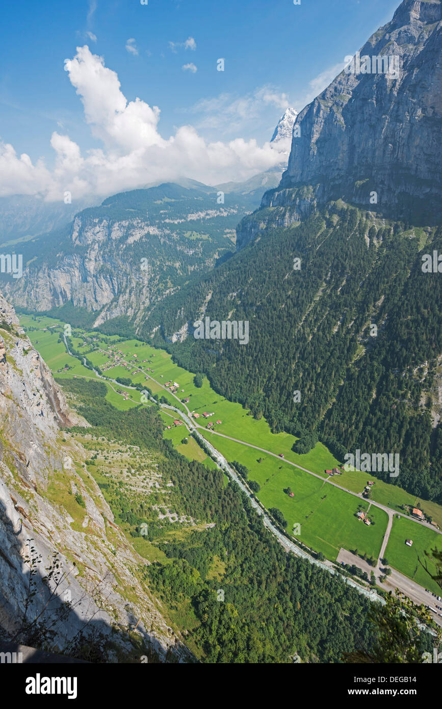 Murren, Bernese Oberland, Swiss Alps, Switzerland, Europe - Stock Image