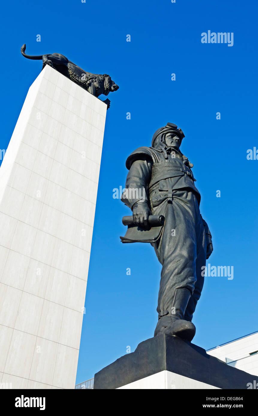 Statue of General Dr Milan Rastislav Stefanik, Bratislava, Slovakia, Europe - Stock Image