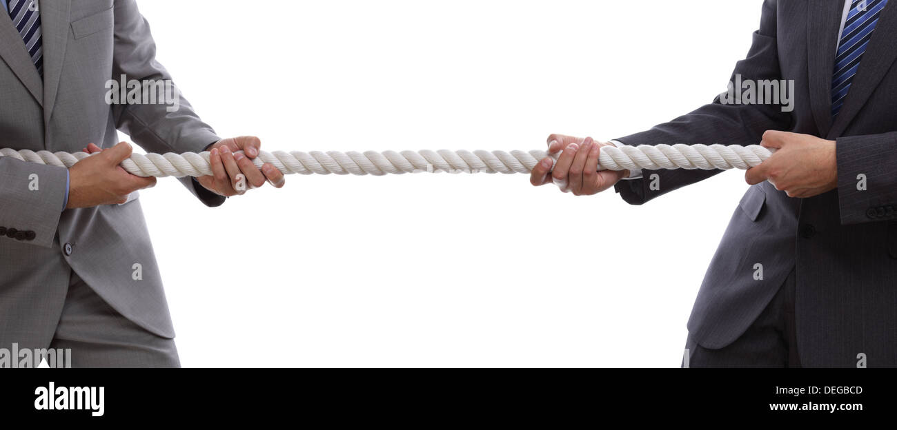 Business competition tug of war - Stock Image