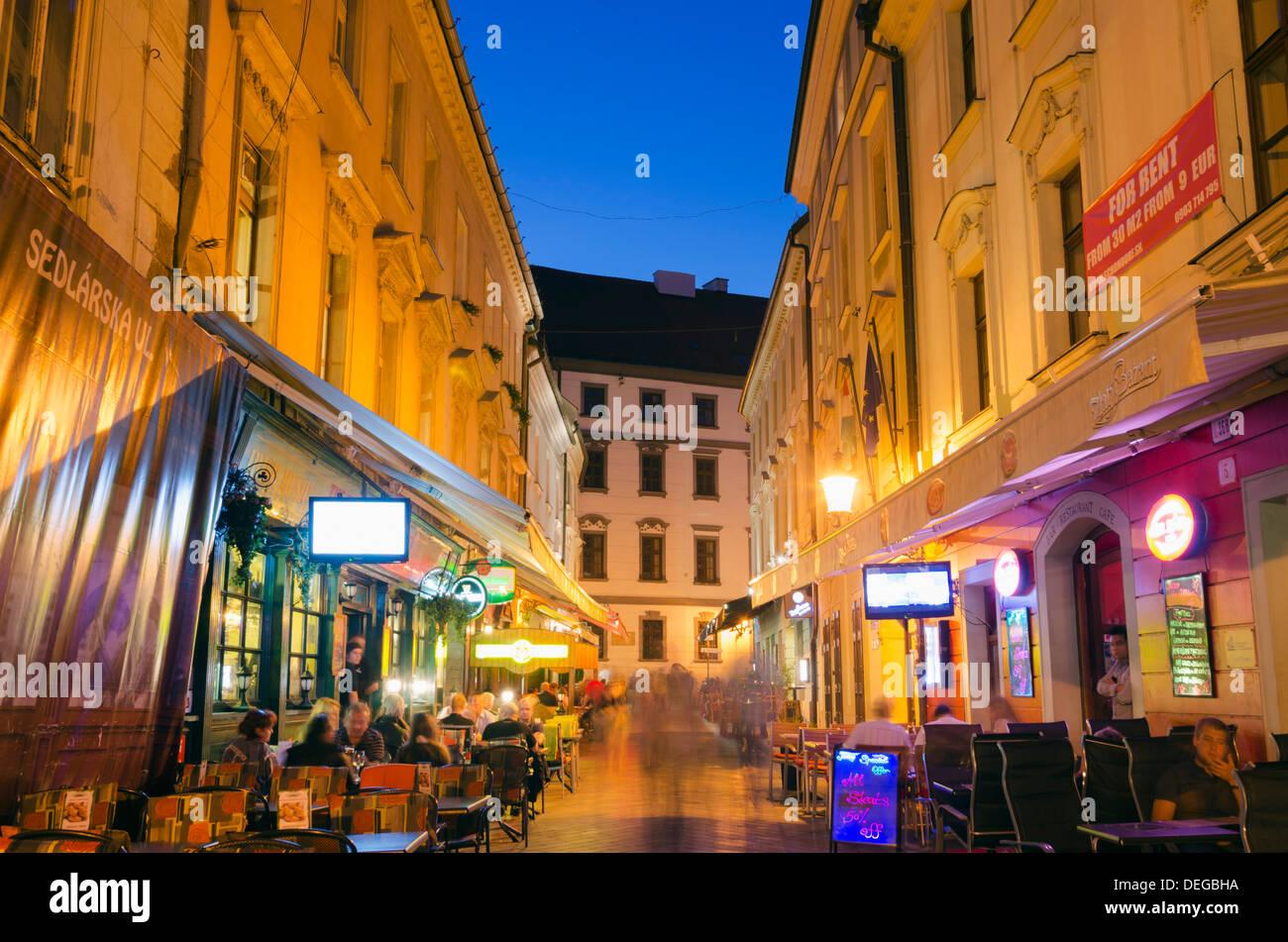 Restaurants, Bratislava, Slovakia, Europe - Stock Image