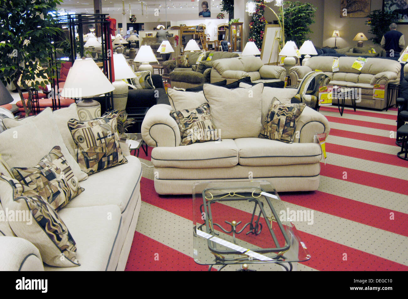 clearance center in furniture showroom stock image