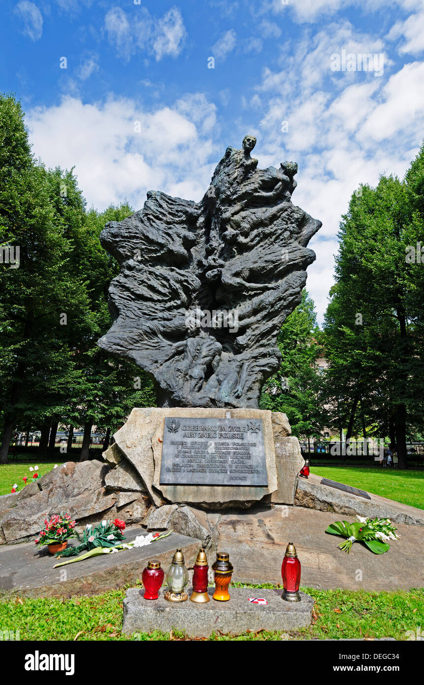 Memorial to people killed by Russia, Poznan, Poland, Europe Stock Photo