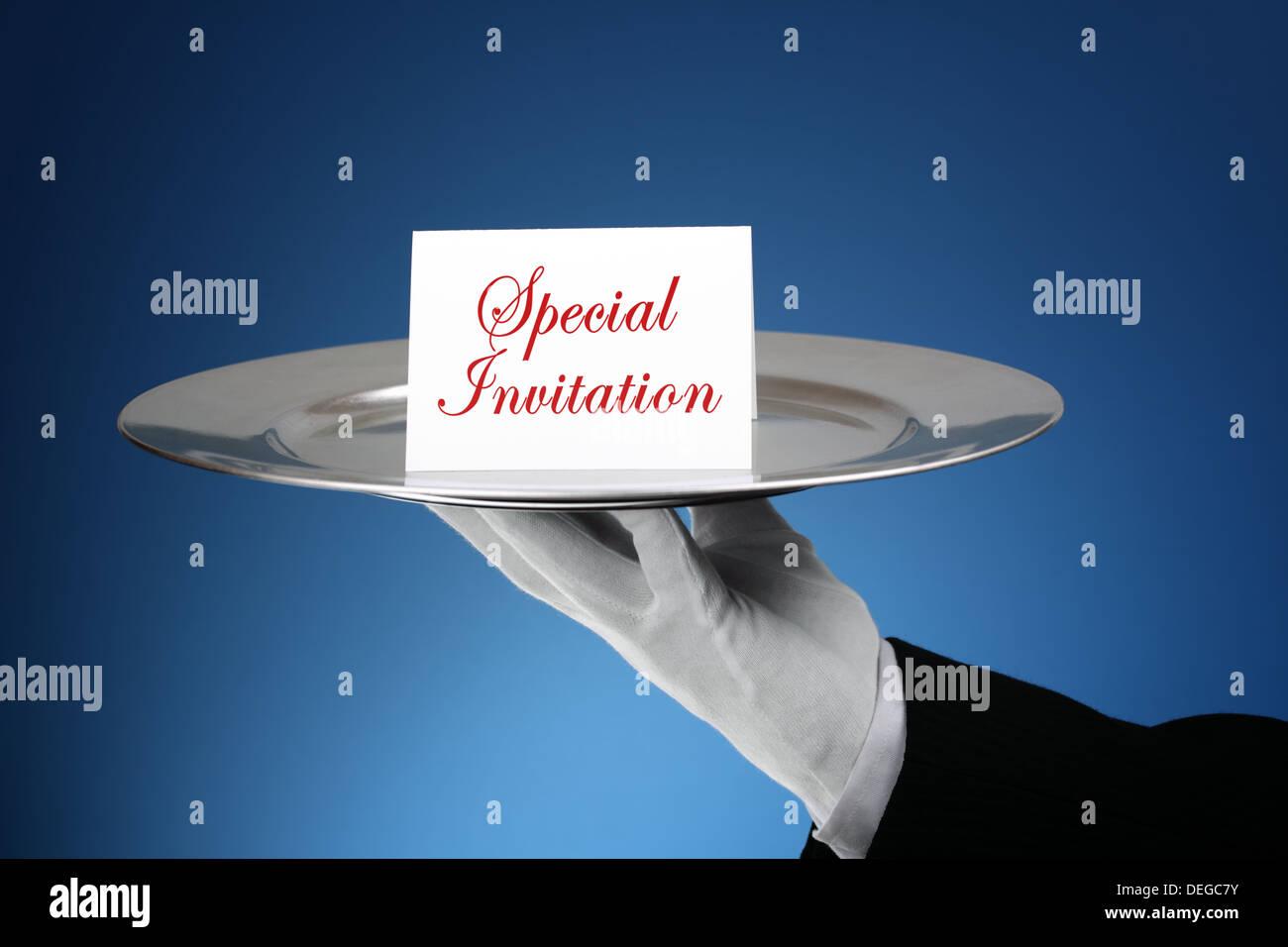 Formal invitation - Stock Image