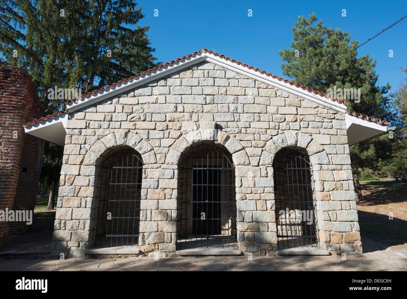Thracian Tomb of Kazanlak, UNESCO World Heritage Site, Kazanlak, Bulgaria, Europe - Stock Image