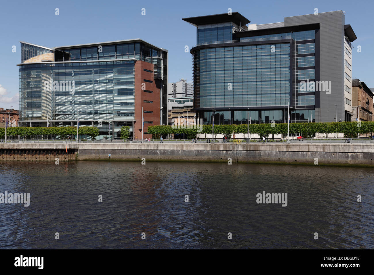 Commercial offices in the International Financial Services District, 200 and 150 Broomielaw, River Clyde, Glasgow, Scotland - Stock Image