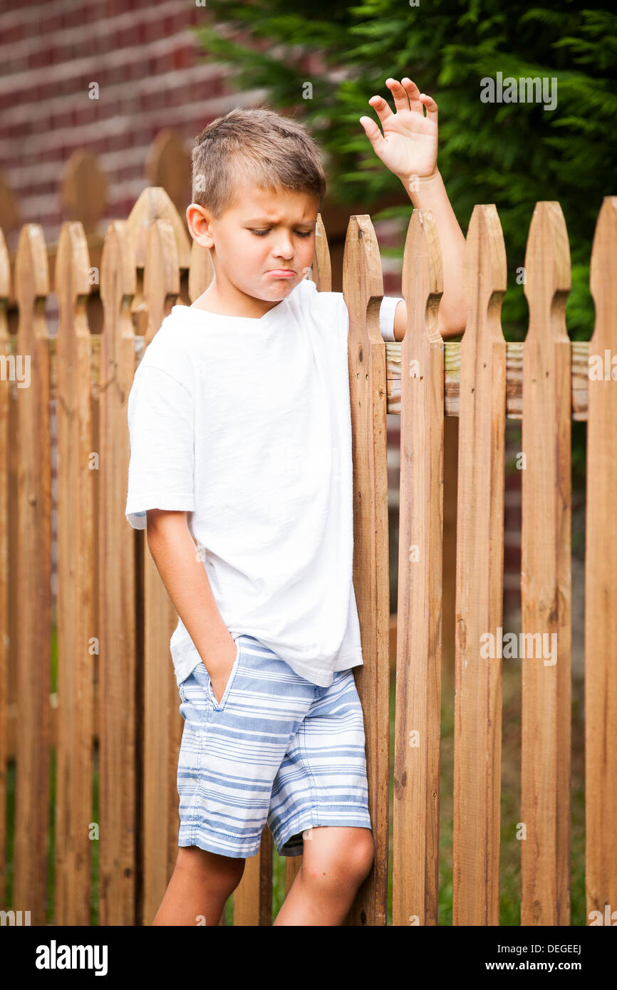 boy pouting - Stock Image