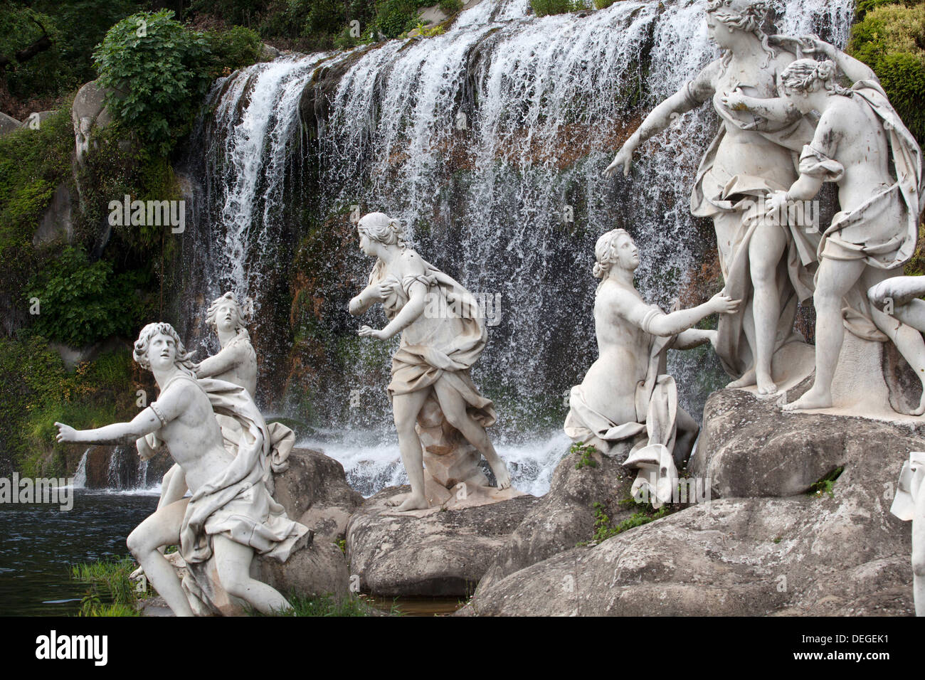The Diana's waterfalls, Caserta, Campania, Italy, Europe Stock Photo