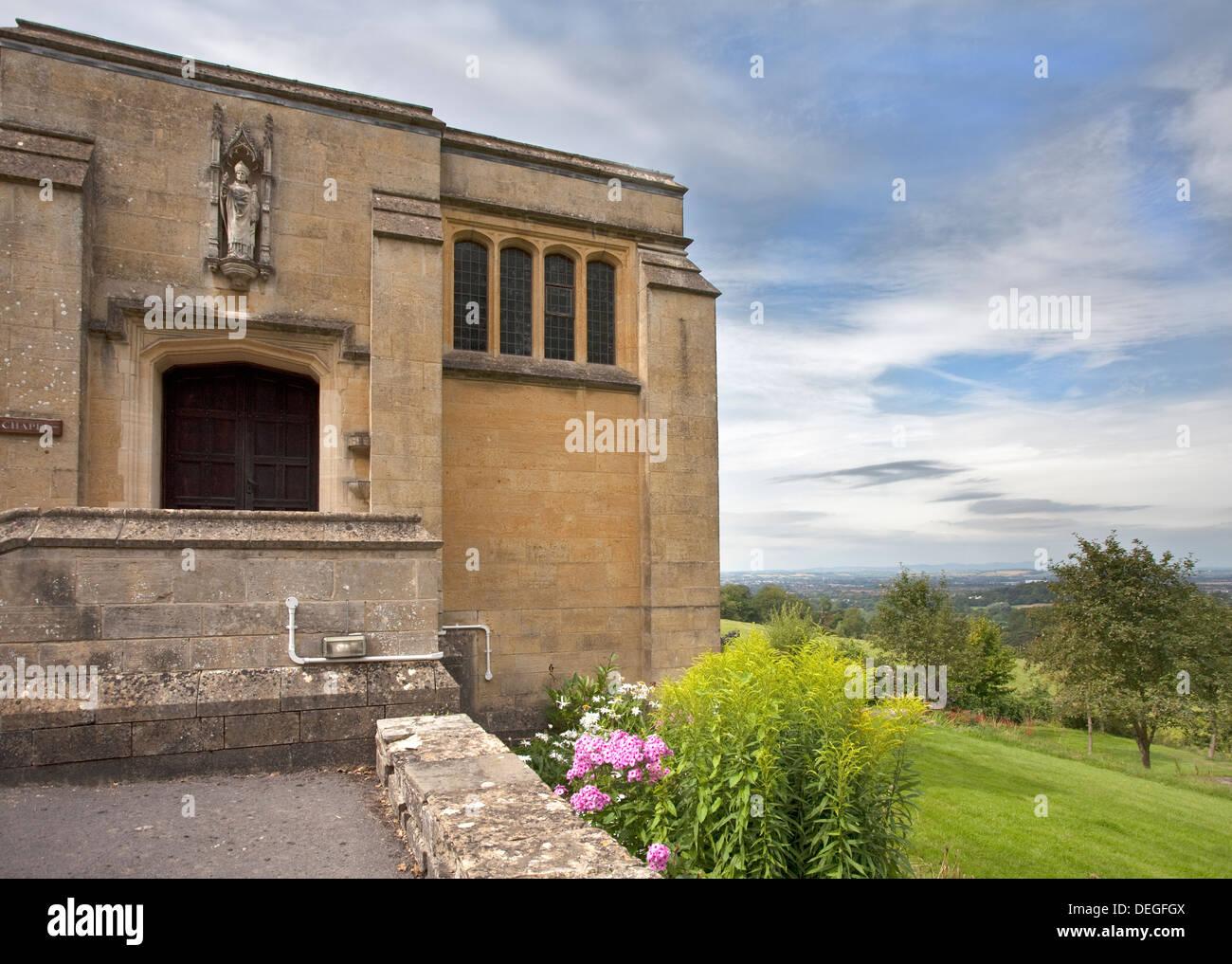 Chapel at Prinknash Abbey, Prinknash, Gloucestershire, England - Stock Image