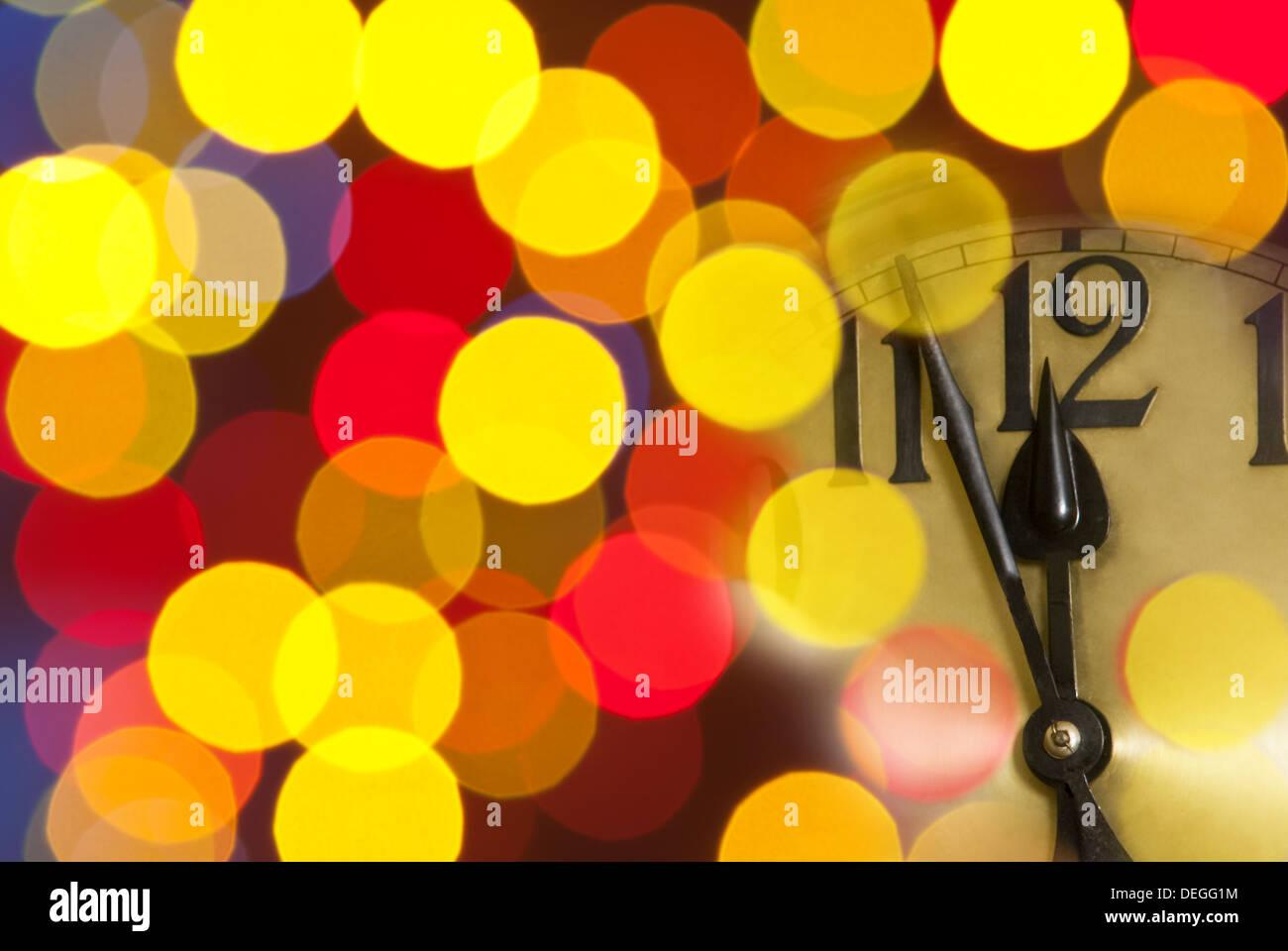 New Year clock - Stock Image