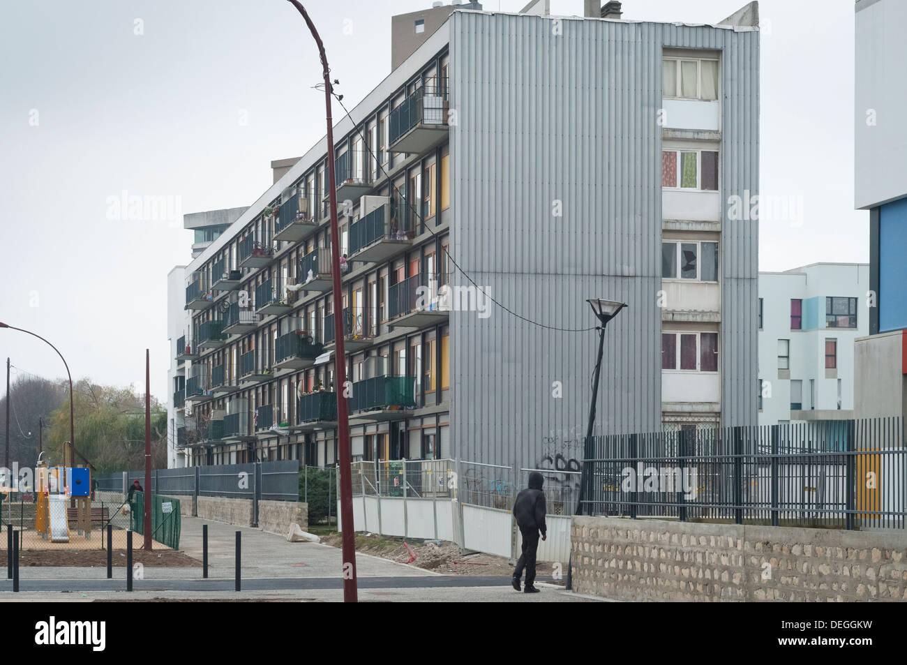 architecture of the cit des bosquets clichy sous bois stock photo 60600621 alamy. Black Bedroom Furniture Sets. Home Design Ideas