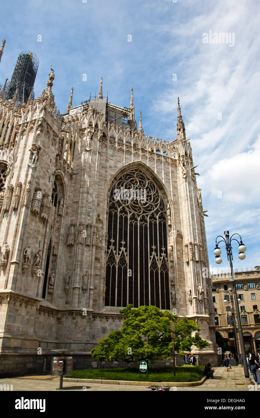 Duomo Di Milano in Milan, Lombardy, Italy - Stock Image