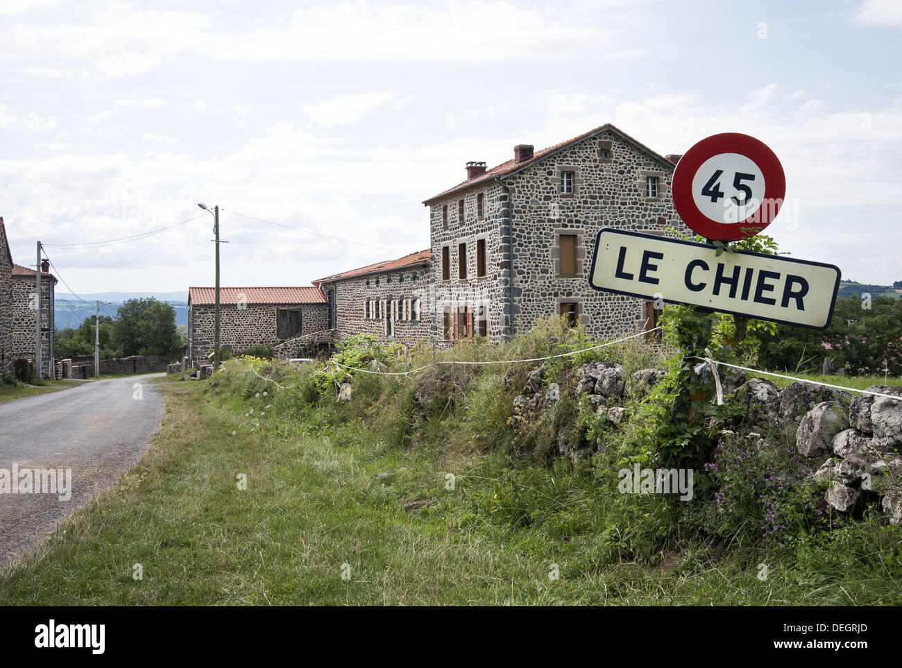 The picturesque village of Le Chier on the GR65 route, The way of St James, France - Stock Image