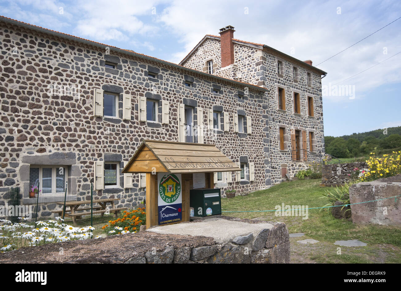 A gite in the picturesque village of Le Chier on the GR65 route, The way of St James, France - Stock Image