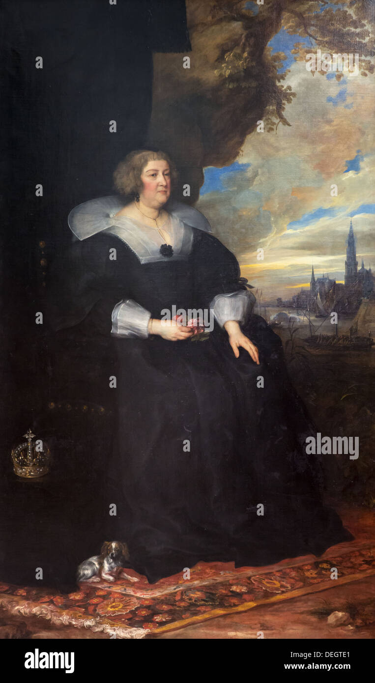 17th century  -  Portrait of Marie de Medici, around 1631 - Anton van Dyck Philippe Sauvan-Magnet / Active Museum oil on canvas - Stock Image