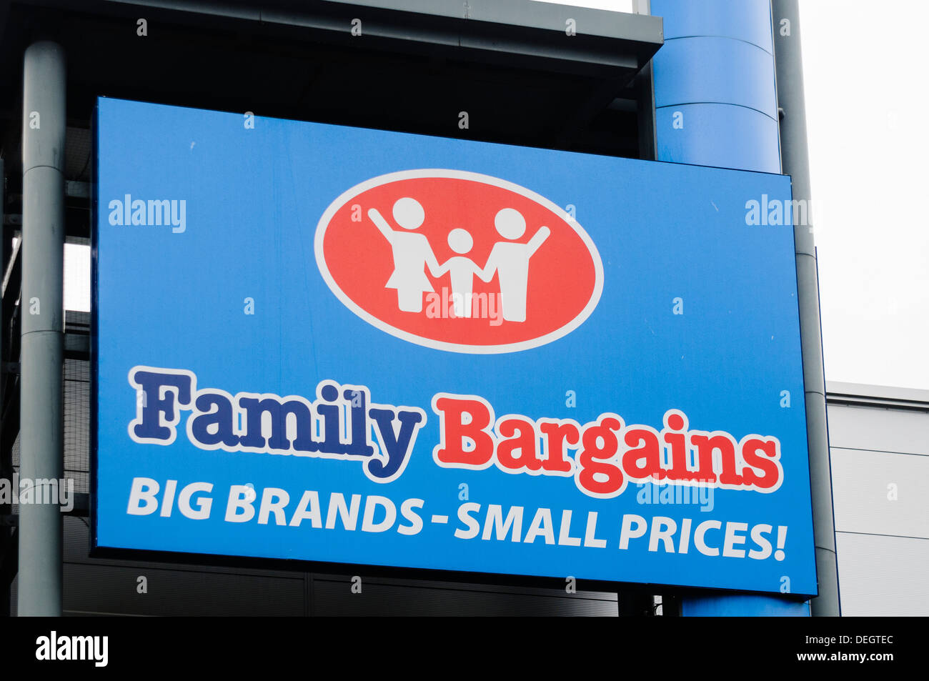 Family Bargains store Stock Photo