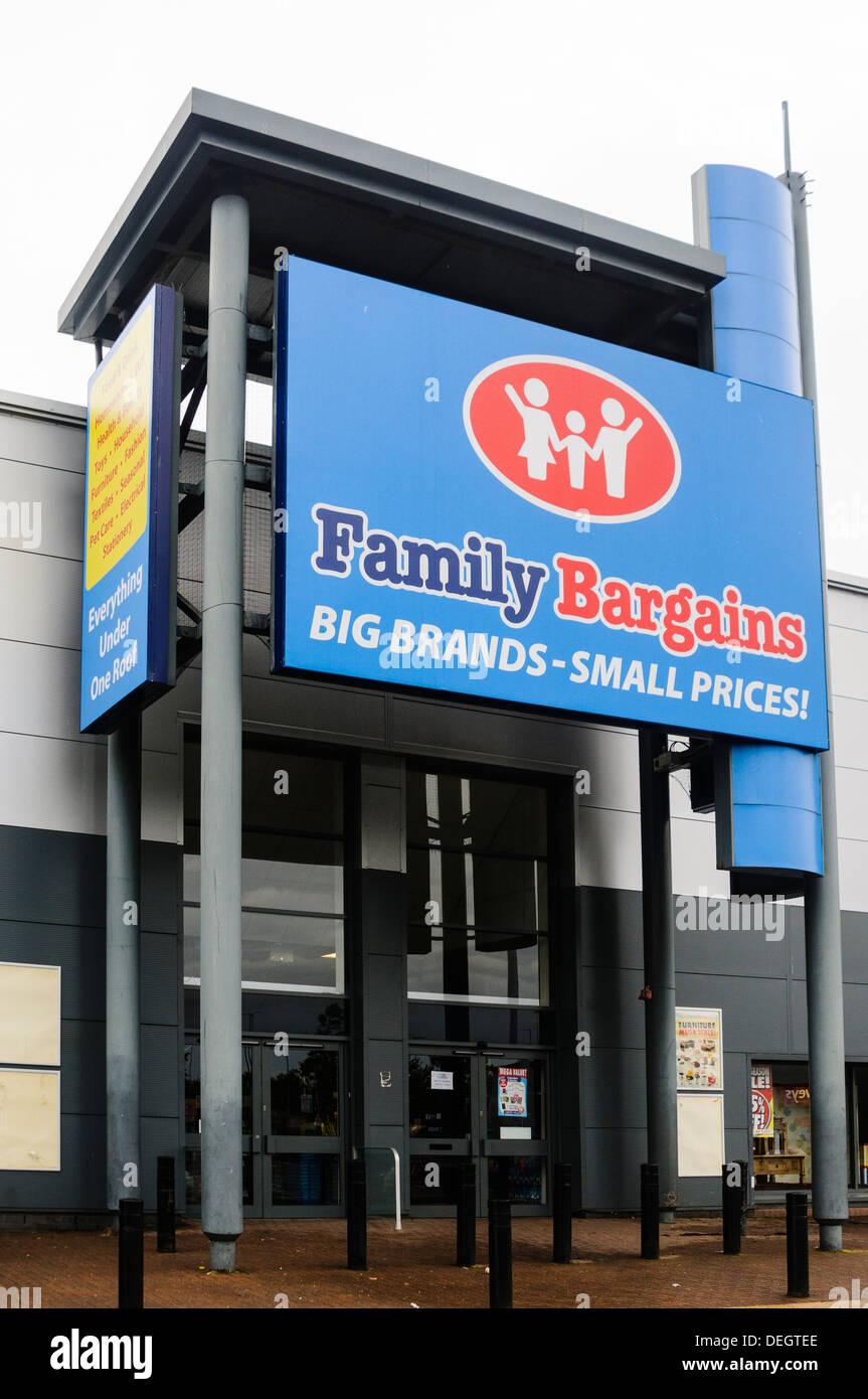 Family Bargains store Stock Photo