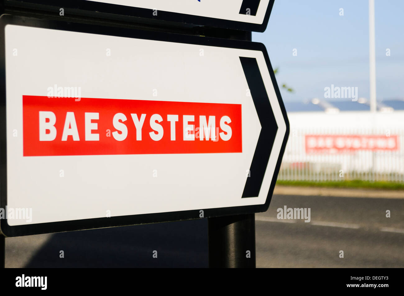 Sign for BAE Systems - Stock Image
