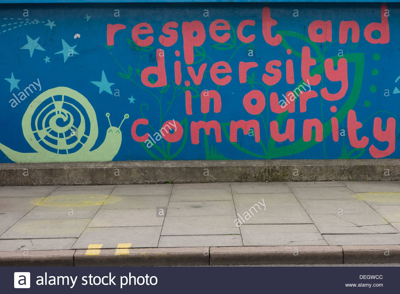 Respect and diversity art work on a bridge in Cambridge - Stock Image