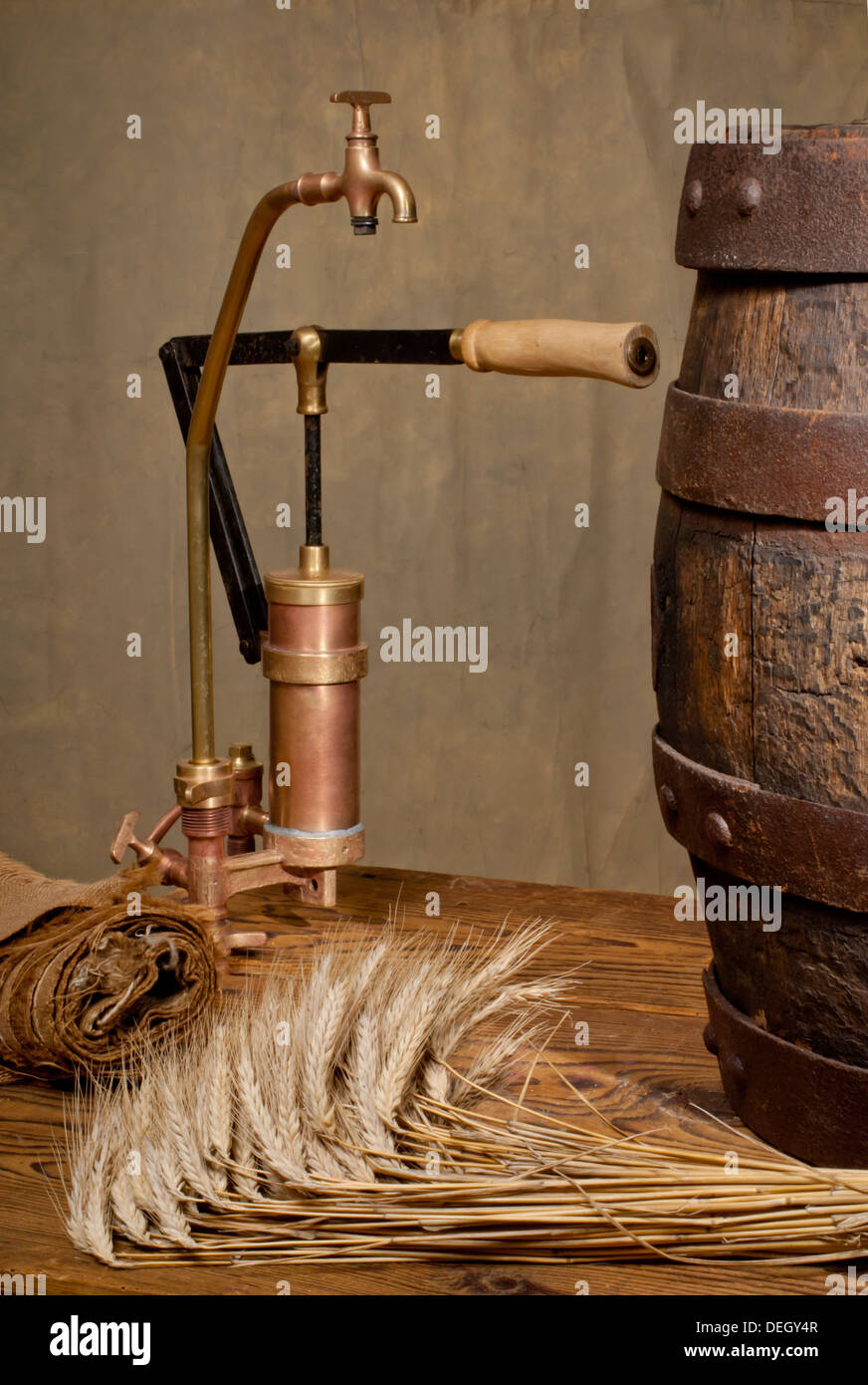 faucet and beer barrel Stock Photo: 60608823 - Alamy