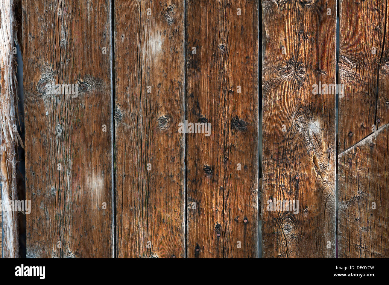 Old Barn Wood Planks - Stock Image